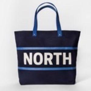 Askov Finlayson Target NORTH Blue Canvas Tote Bag